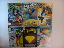 6 COMIC RUN ADVENTURES OF SUPERMAN  #501,501A(DIECUT),502,503,504,505(HOLOGRAPHIC COVER) (DC 1993)