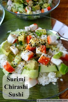 Surimi Chirashi Sushi with Summer Vegetables | Farm Fresh Feasts