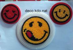 DECO.KDO.NAT: Perles hama: smileys divers