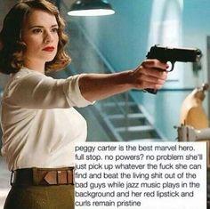 Hell yeah! Go Peggy, go Peggy, go Peggy, wooohoooo!