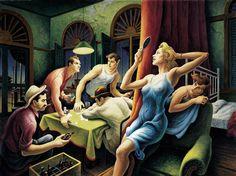 "Thomas Hart Benton, ""Poker Night (from ""A Streetcar Named Desire"")"", 1948"