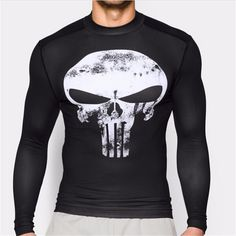 New Fitness Compression Shirt Men Anime Superhero Punisher Skull Captain Americ Superman 3D T Shirt Bodybuilding Crossfit tshirt