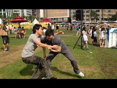 서울 광장 타이치 추수 대결!! (Taichi push hands match in Seoul, Korea)