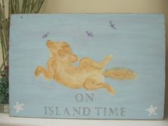 On Island Time - Features a relaxed, sleepy Golden Retriever