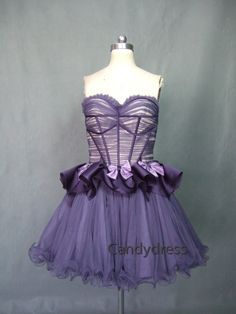 Dark purple, eggplant, strapless, high quality,cocktail dress, party dress, custom color size, 100% real sample pictures