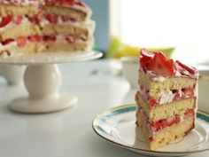 This dainty-looking cake is packed with pepper-spiced strawberries to cut the sweetness.