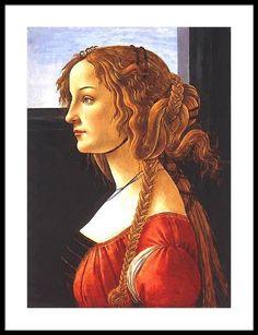 Shop Sandro Botticelli - Portrait Of Simonetta Vespucci Wood Wall Art created by bestartistpaintings. Sandro, Wassily Kandinsky, Claude Monet, Large Photo Prints, Renaissance Portraits, Pose, Classical Antiquity, Women Poster, Historical Art