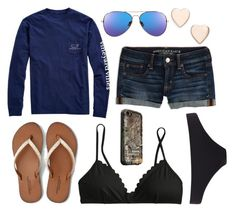 """""""Bonfire On The Beach :)"""" by im-a-jeans-and-boots-kinda-girl ❤ liked on Polyvore featuring American Eagle Outfitters, Vineyard Vines, Paul Smith, J.Crew, LifeProof and Poppy Finch"""