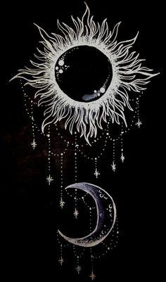 Sun,moon,stars all you need. (acidsurftrip)