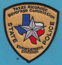 TEXAS STATE POLICE ALCOHOLIC BEVERAGE COMMISSION ( ABC ) SHOULDER PATCH