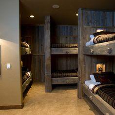 bunks reclaimed wood. Needs rails!!