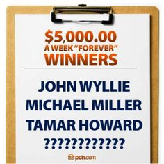#PCHGIVEAWAY4900 ......ending soon but look at all the #Winners  lives that changed from this magical number.........#NeverGiveUp $5,000 A Week Forever Winners