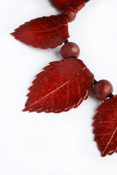 Autumn Leaf necklace Thanksgiving jewelry Fall by BrightBlooming