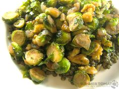Pan Roasted Brussels Sprouts With Bacon 1 lbs brussels sprouts ...