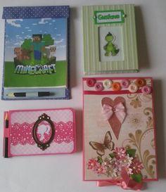 Bloquinhos em cartonagem e scrapbook - Aula parte 1 de 3