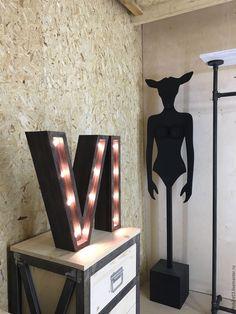 Купить Светильники буквы - комбинированный, светящиеся буквы, буквы из дерева, буквы в интерьере, деревянные буквы