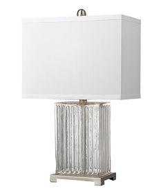 Look what I found on #zulily! Ribbed Glass Table Lamp #zulilyfinds