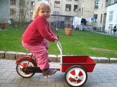 Cargo bike culture starts early in Copenhagen.