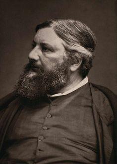 Gustave Courbet (1819-1877), v. 1861-1866, tiré en 1878 | Photographe : Étienne Carjat