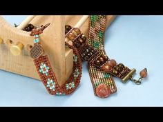 ArtbeadsVideos - Loom Basics - Learn how to set up the Ricks Beading Loom, how to start and then add beads to a loomed project, and how to take a project off of the loom.