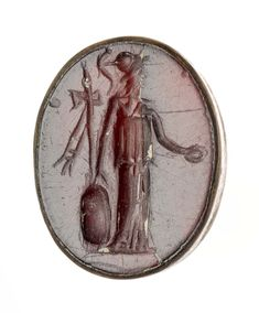 Oval gem with standing Minerva | Museum of Fine Arts, Boston