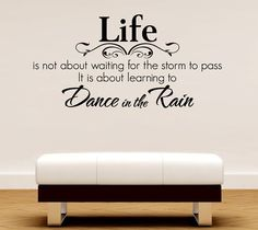 Romantic Poetry Dance in the Rain Removable Mural Decal Sticker Letting Quotes Life Wall Decal DIY Decoration (Mainland)) Rain Quotes, Removable Wall Decals, Learn To Dance, Dancing In The Rain, Rain Dance, Nursery Wall Decor, Room Decor, Wall Art Quotes, Wall Stickers