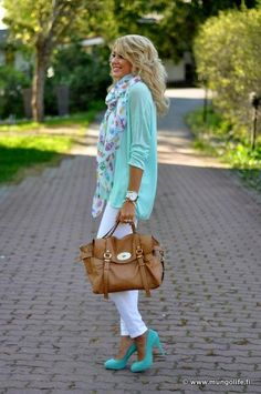This outfit is a bold move - But, I love the colors and would definitely wear this with different shoes