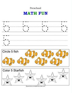 tracing number worksheets for preschoolers!