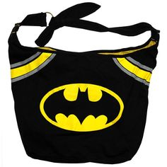 Batman DC Comics Bat Signal Logo Super Hero Hobo Bag  Why yes, I DO have to have it.