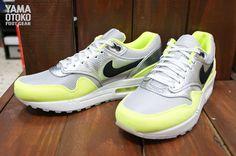 Nike Air Max 1 FB Premium: Black/Silver/Volt