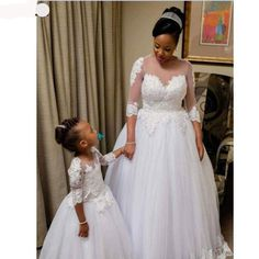 Ball Gown Tulle Wedding Dresses Crew Neck Sheer Half Sleeve Lace Appliques South African Girl Bridal Gowns sold by Wedding store. Shop more products from Wedding store on Storenvy, the home of independent small businesses all over the world. Wedding Dresses Under 100, Wedding Dress Styles, Wedding Attire, Bridal Dresses, Bridesmaid Dresses, Tulle Wedding, Bridal Lace, Wedding Gowns, African Wedding Dress