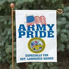 Personalized Military Garden Flag   Military Pride Printed Flag