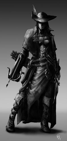 The Assassin - Female Archer Concept 2 by BladeofGoth.deviantart.com
