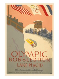 1932 Olympics, Lake Placid, NY Lori and I rode this down the run once, WOWWWW!
