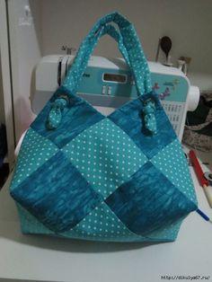 Оригинальная сумка из квадратов. Мастер-класс