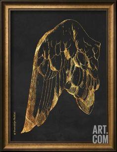 Gold Wing I Framed Art Print by Babbitt Gwendolyn at Art.com