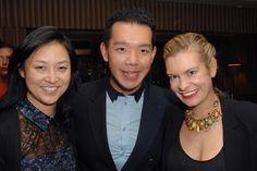 Christine Kim, Jim Shi and Alexandra Kimball at Devi Kroell's dinner