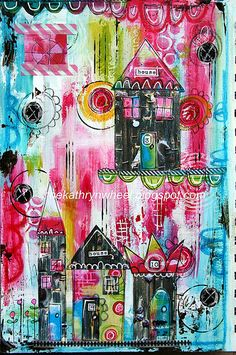 #papercraft #artjournaling Art Journal - Home Sweet Home