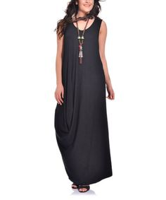 Look what I found on #zulily! Black Sleeveless Maxi Shift Dress - Plus #zulilyfinds