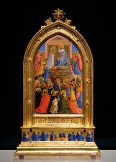 Fra Angelico, The Coronation of the Virgin, … Italian Renaissance, Renaissance Art, Gardner Museum, Fra Angelico, Bernardo, Medieval Art, Native Indian, Sacred Art, Triptych
