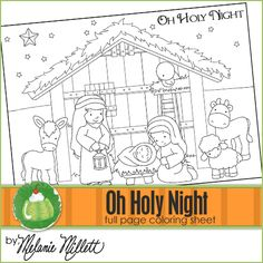 Free Printable: Oh Holy Night Coloring Page (and others too...some of them you have to pay for but plenty of free ones)