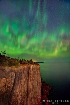 Aurora Borealis, Lake Superior, Minnesota, USA
