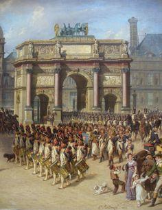 Desfile de la Guardia Imperial por el Arco del Triunfo, de Bellangé Detalle. Más en www.elgrancapitan.org/foro