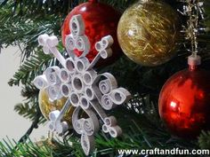 Quilling - recycled paper - snowflakes - tutorial
