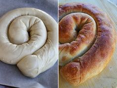 placinta cu dovleac preparare 6 Romanian Food, Romanian Recipes, Bagel, Doughnut, Bread, Sweet, Easy, Desserts, Pizza