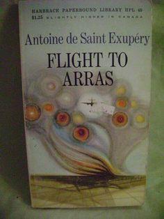 Flight To Arras Antoine de Saint Exupery Harbrace Paperbound HPL-45