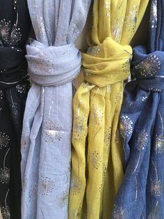 Dandelion glitter scarves aw16
