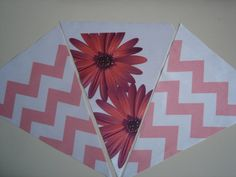 Fabric Bunting Pink Chevron Flower Combo by customflag on Etsy, $19.00 Custom Feather Flags, Custom Flags, Fabric Flag Banners, Fabric Bunting, Banner Design, Game Of Thrones Flags, Military Homecoming Signs, Funny Flags