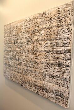 Amy's Casablanca: DIY Sheet Music Artwork - an actual tutorial. thank goodness!
