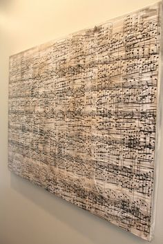 Amy's Casablanca: DIY Sheet Music Artwork - an actual tutorial. thank goodness!